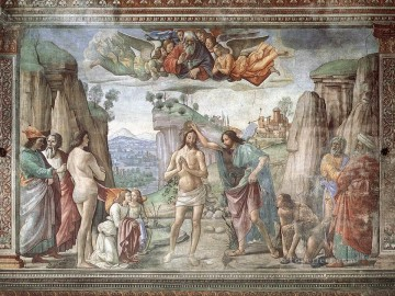 baptism of christ Painting - Baptism Of Christ 1486 religious Domenico Ghirlandaio