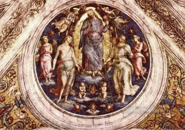 Christ in his Glory religion Pietro Perugino Oil Paintings