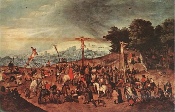 Crucifixion peasant genre Pieter Brueghel the Younger religious Christian Oil Paintings
