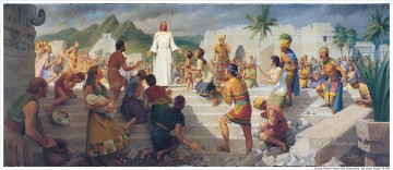 Jesus Teaching In The Western Hemisphere religious Christian Oil Paintings