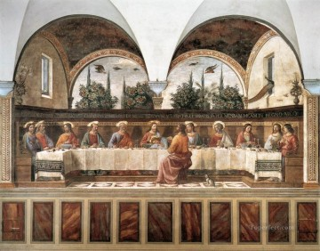 Last Supper 1486 religious Domenico Ghirlandaio religious Christian Oil Paintings
