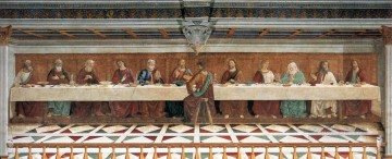 baptism of christ Painting - Last Supper religious Domenico Ghirlandaio religious Christian