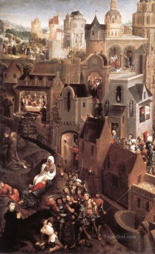 Scenes from the Passion of Christ 1470detail1left side religious Hans Memling Oil Paintings