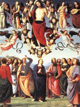 baptism of christ Painting - The Ascension of Christ religion Pietro Perugino