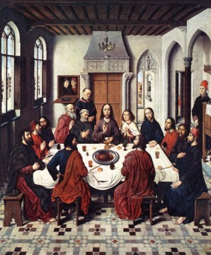 The Last Supper religious Dirk Bouts religious Christian Oil Paintings