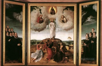 baptism of christ Painting - The Transfiguration of Christ religion Gerard David