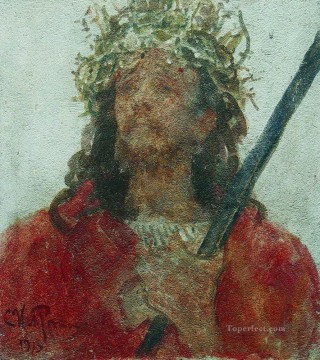 baptism of christ Painting - jesus in a crown of thorns 1913 Ilya Repin religious Christian
