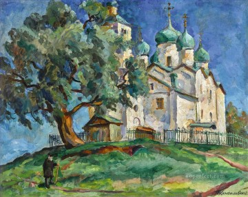CHURCH OF SAINTS BORIS AND GLEB IN NOVGOROD Petr Petrovich Konchalovsky Christian Catholic Oil Paintings