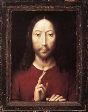 Christ Giving His Blessing 1481 religious Hans Memling Oil Paintings