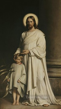 Loch Painting - Christ and Boy religion Carl Heinrich Bloch