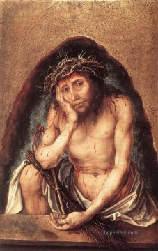 baptism of christ Painting - Christ as the Man of Sorrows religious Albrecht Durer