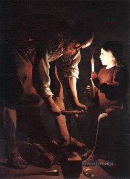 Christ in the Carpenters Shop religious candlelight Georges de La Tour Oil Paintings