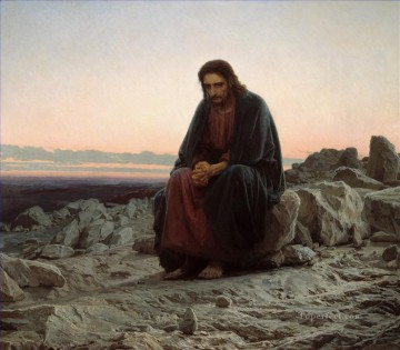 Christ in the Wilderness Desert Ivan Kramskoi Christian Catholic Oil Paintings