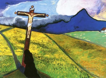 Crucifixion Marianne von Werefkin Christian Catholic Oil Paintings