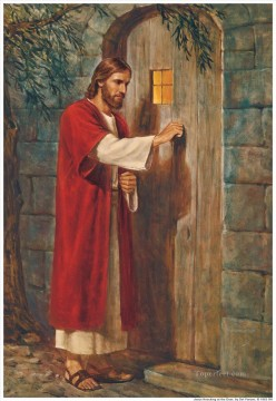 religious Painting - Jesus At The Door religious Christian