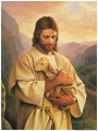 Jesus Carrying A Lost Lamb religious Christian
