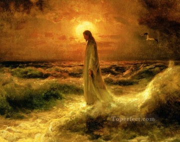 Jesus Christ Walking on Water Oil Paintings