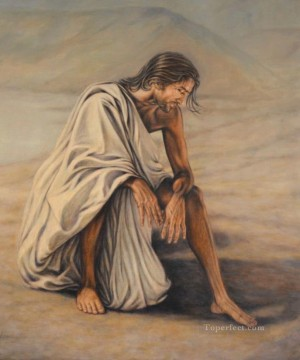 jesus christ Painting - Jesus Christ in Gallilee by Curtis Hooper