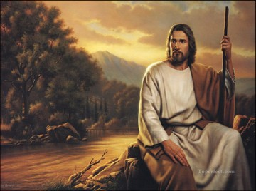 jesus christ Painting - Jesus Shepherd of the World religious Christian