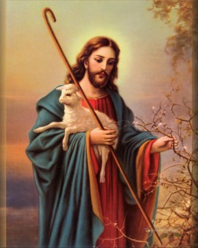 jesus Art - Jesus and lamp religious Christian