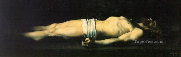 religious Painting - Jesus at the Tomb nude Jean Jacques Henner religious Christian