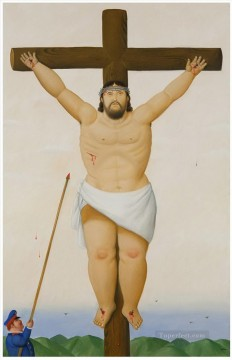 Jesus on Cross Fernando Botero Oil Paintings