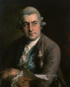 Christian Oil Painting - Johann Christian Bach portrait Thomas Gainsborough