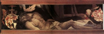 Grunewald Canvas - Lamentation of Christ religious Matthias Grunewald