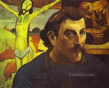 Self Portrait with Yellow Christ Paul Gauguin Oil Paintings