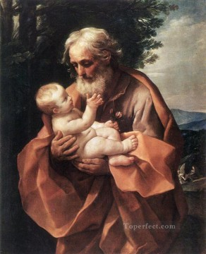 jesus Painting - St Joseph with the Infant Jesus Guido Reni religious Christian