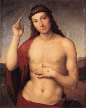 baptism of christ Painting - The Blessing Christ master Raphael