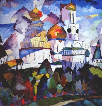 churches new jerusalem 1917 Aristarkh Vasilevich Lentulov Christian Catholic Oil Paintings