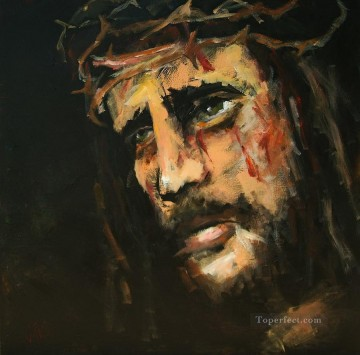 crucified jesus carole foret religious Christian Oil Paintings
