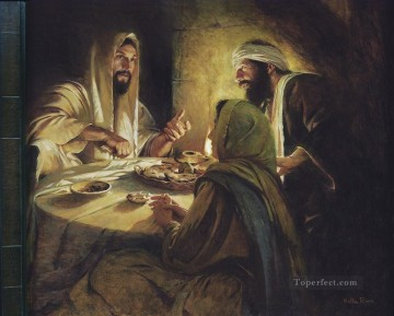 Christ at Emmaus Catholic Christian Jesus Oil Paintings