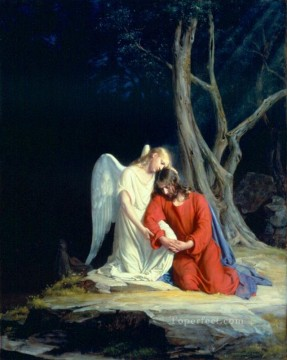 Loch Painting - Christ in Gethsemane religion Carl Heinrich Bloch