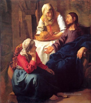 baptism of christ Painting - Christ in the House of Mary and Martha Johannes Vermeer