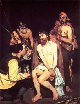 baptism of christ Painting - Jesus Mocked by the Soldiers Edouard Manet religious Christian