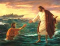 Jesus on sea religious Christian