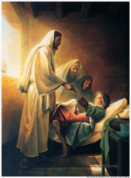 Jesus raising the daughter of Jairus Oil Paintings