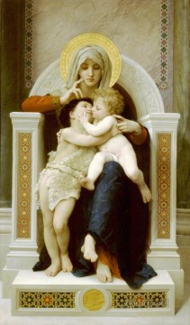 La Vierge LEnfant Jesus et Saint Jean Baptiste William Adolphe Bouguereau religious Christian Oil Paintings