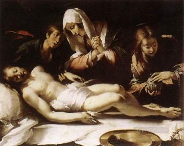 Strozzi Art Painting - Lamentation Over The Dead Christ Italian painter Bernardo Strozzi