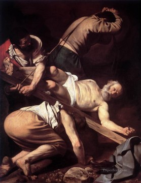Caravaggio Works - The Crucifixion of Saint Peter religious Caravaggio religious Christian