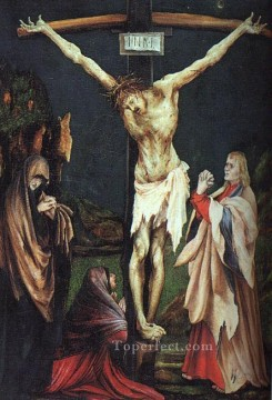 baptism of christ Painting - The Small Crucifixion religious Matthias Grunewald religious Christian