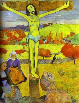 baptism of christ Painting - The Yellow Christ Paul Gauguin