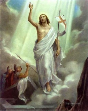 resurrection of christ Oil Paintings