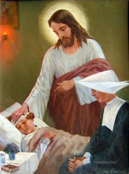 sick child religious Christian Oil Paintings