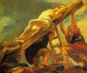 the raising of the cross 1621 Peter Paul Rubens religious Christian Oil Paintings