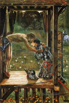 religious Painting - Burne Jones Merciful Knight religious Christian