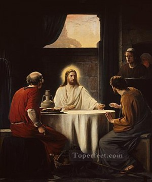 Christ Emaus religion Carl Heinrich Bloch Oil Paintings