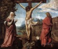Christ On The Cross Between Mary And St John Flemish religious Denis van Alsloot